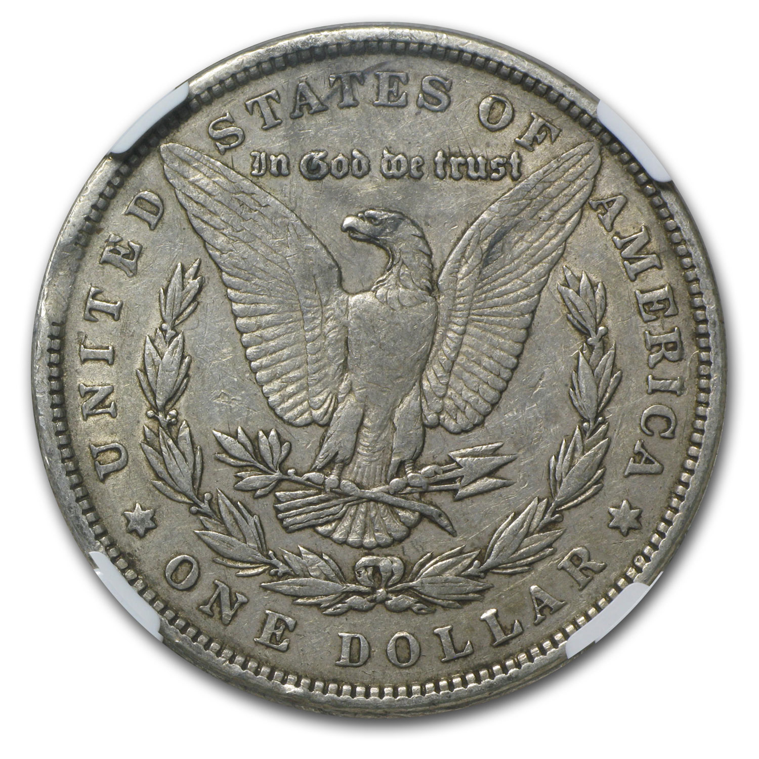 1880 Morgan Dollar XF-40 NGC (Curved Clip Mint Error)
